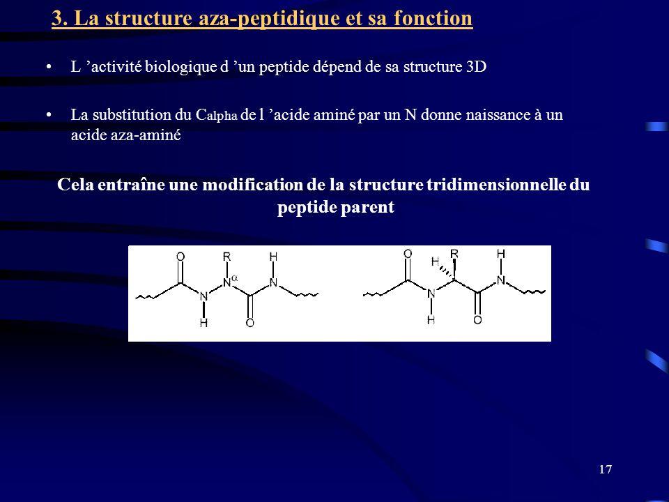 3. La structure aza-peptidique et sa fonction