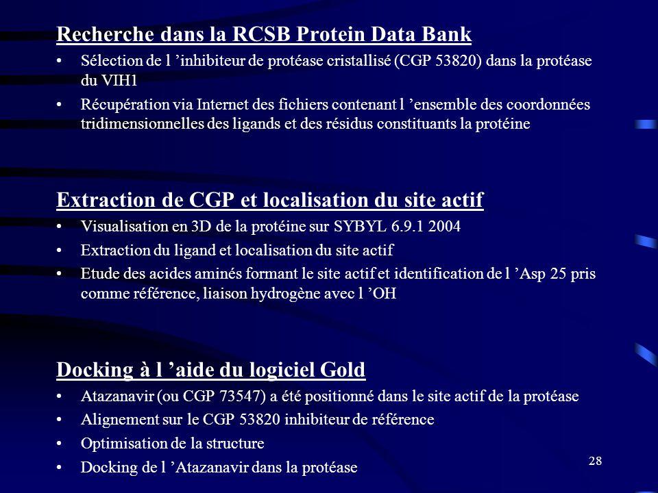 Recherche dans la RCSB Protein Data Bank