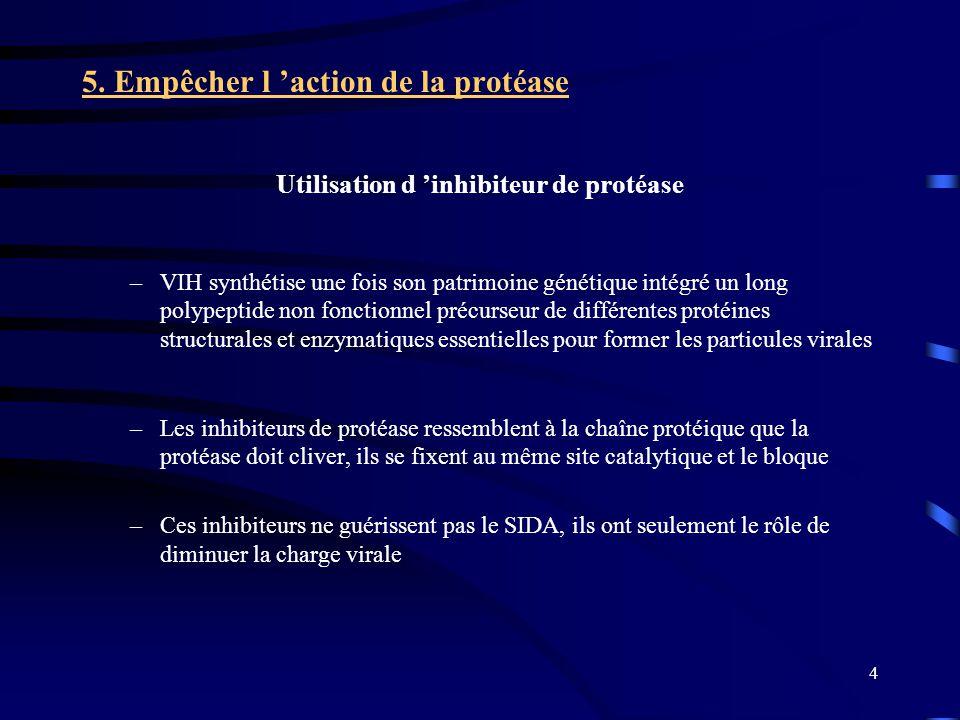 Utilisation d 'inhibiteur de protéase