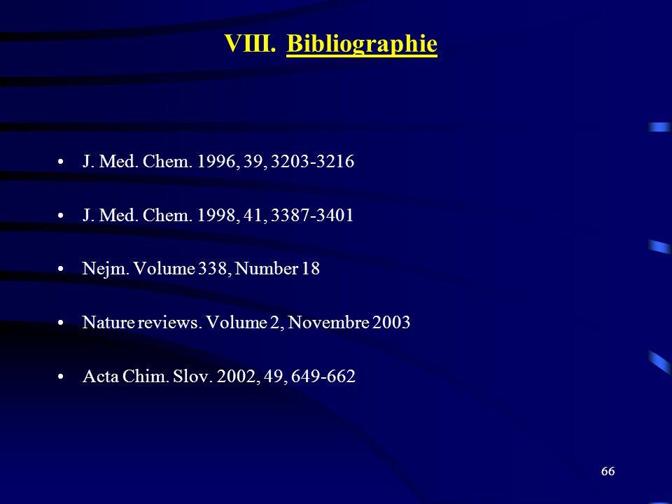 VIII. Bibliographie J. Med. Chem. 1996, 39, 3203-3216