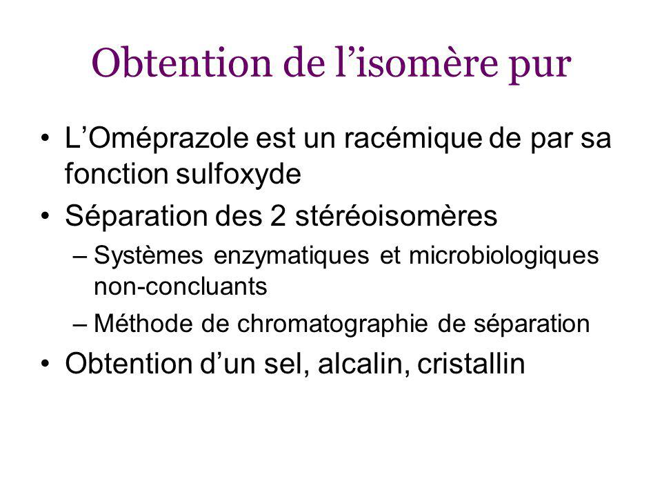 Obtention de l'isomère pur