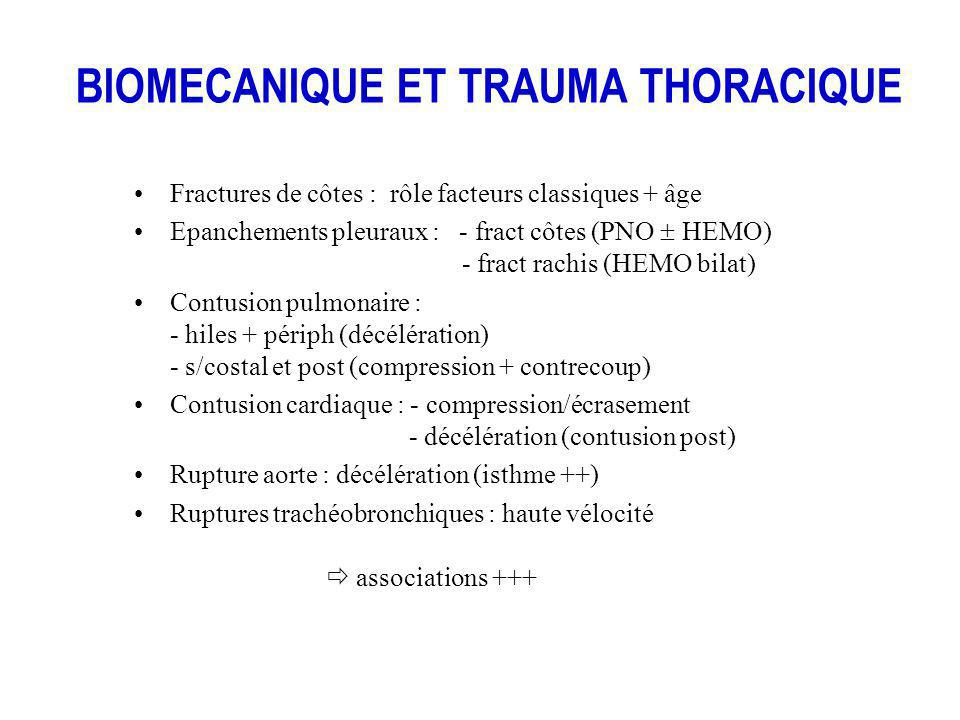 BIOMECANIQUE ET TRAUMA THORACIQUE