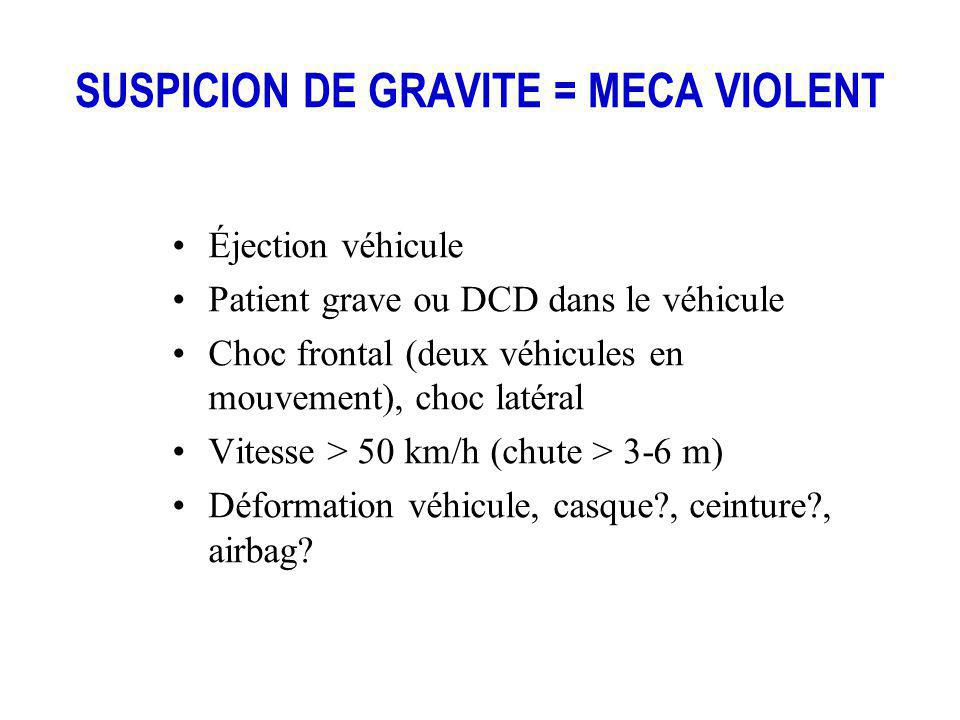 SUSPICION DE GRAVITE = MECA VIOLENT