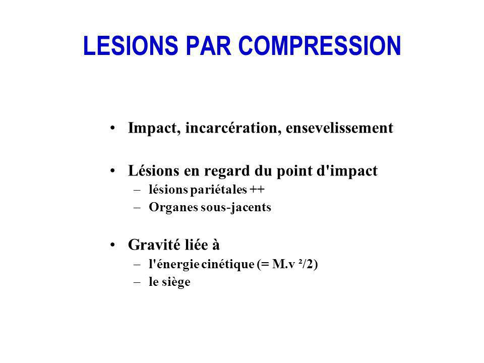 LESIONS PAR COMPRESSION