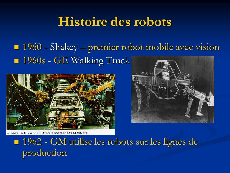 Histoire des robots 1960 - Shakey – premier robot mobile avec vision