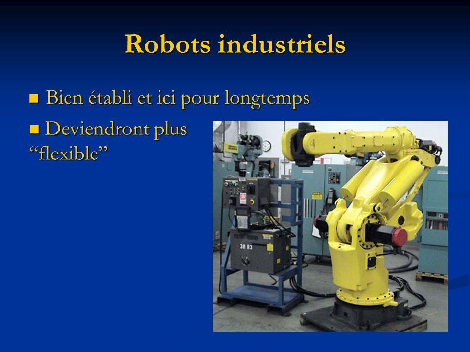 Robots industriels Bien établi et ici pour longtemps