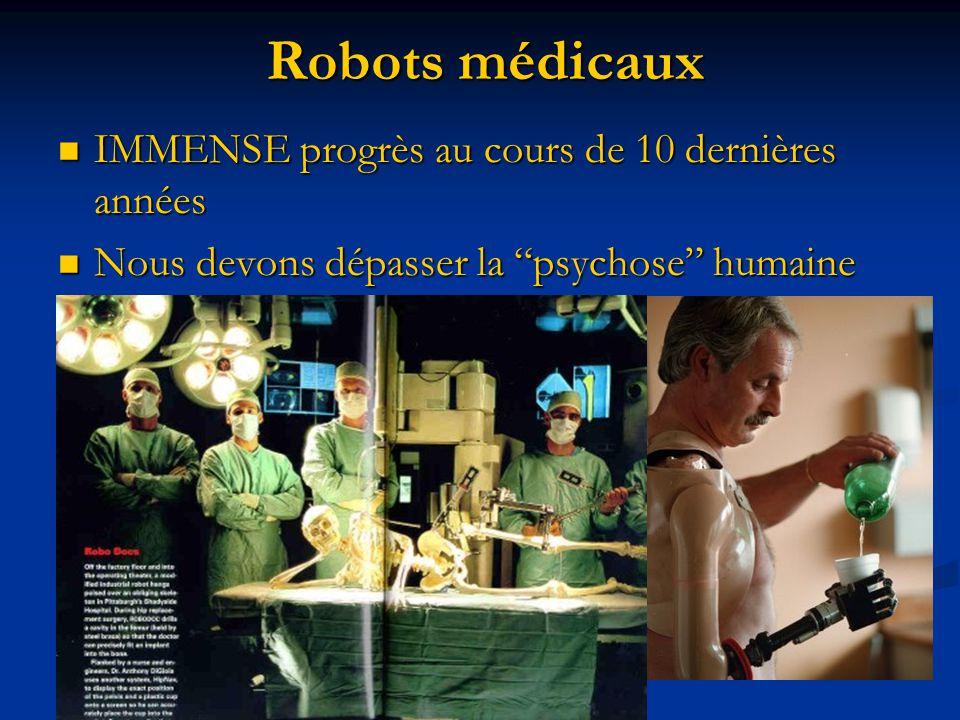 Robots médicaux IMMENSE progrès au cours de 10 dernières années