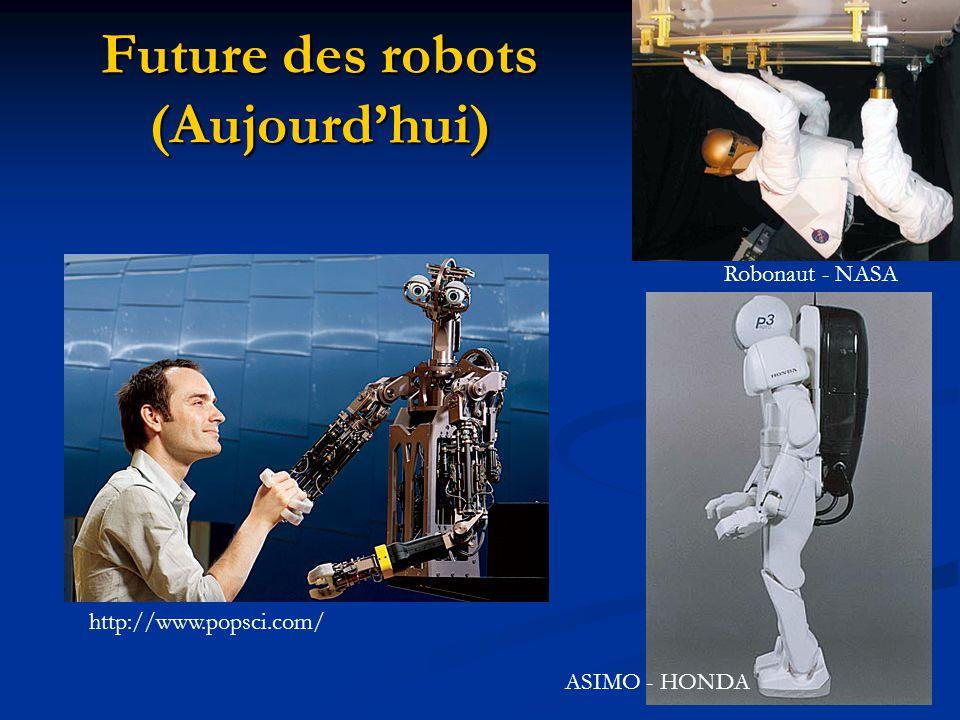 Future des robots (Aujourd'hui)