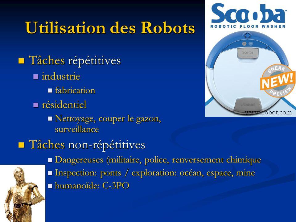 Utilisation des Robots