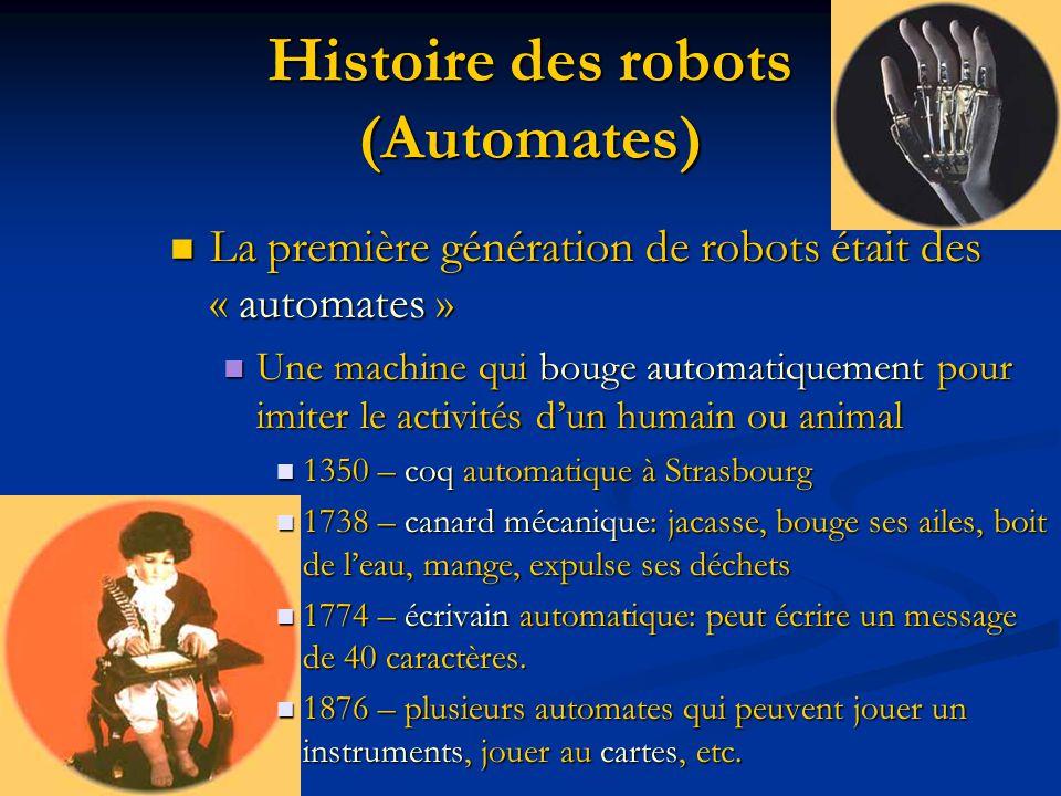 Histoire des robots (Automates)