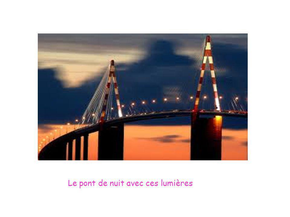 Le pont de nuit avec ces lumières