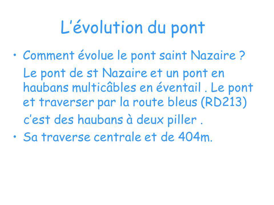 L'évolution du pont Comment évolue le pont saint Nazaire