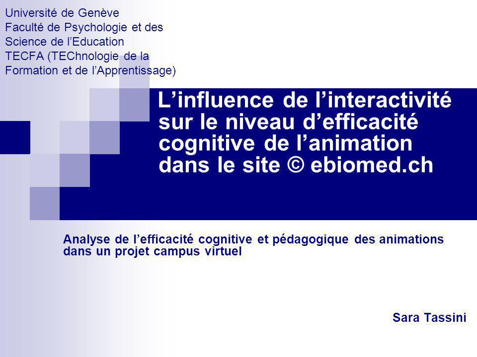 Université de Genève Faculté de Psychologie et des Science de l'Education TECFA (TEChnologie de la Formation et de l'Apprentissage)