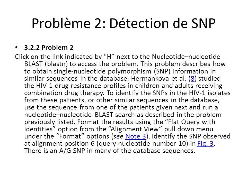 Problème 2: Détection de SNP