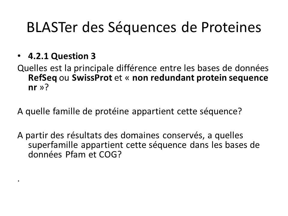 BLASTer des Séquences de Proteines