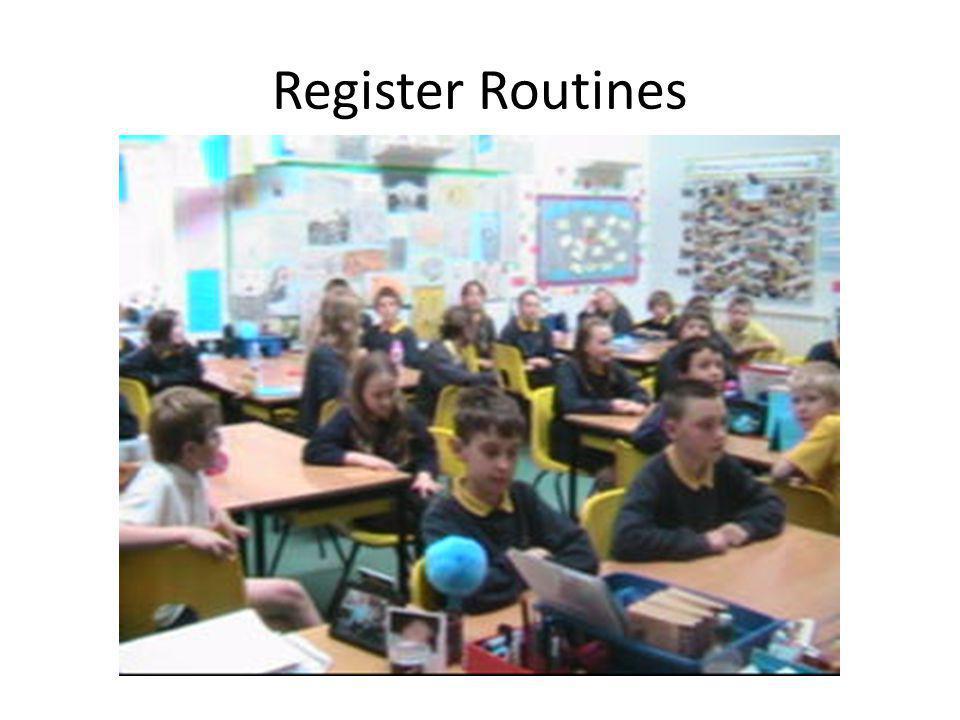 Register Routines