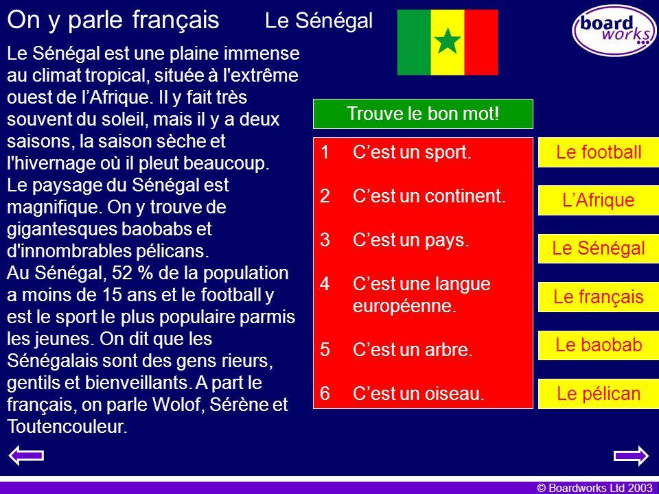 On y parle français Le Sénégal