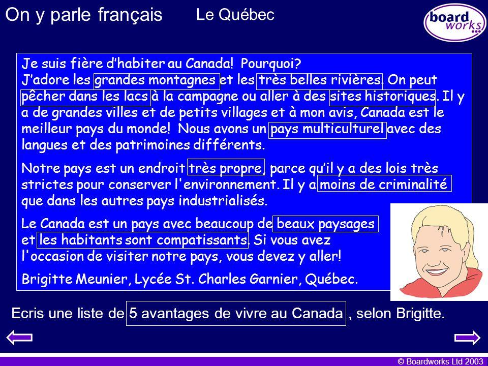 On y parle français Le Québec