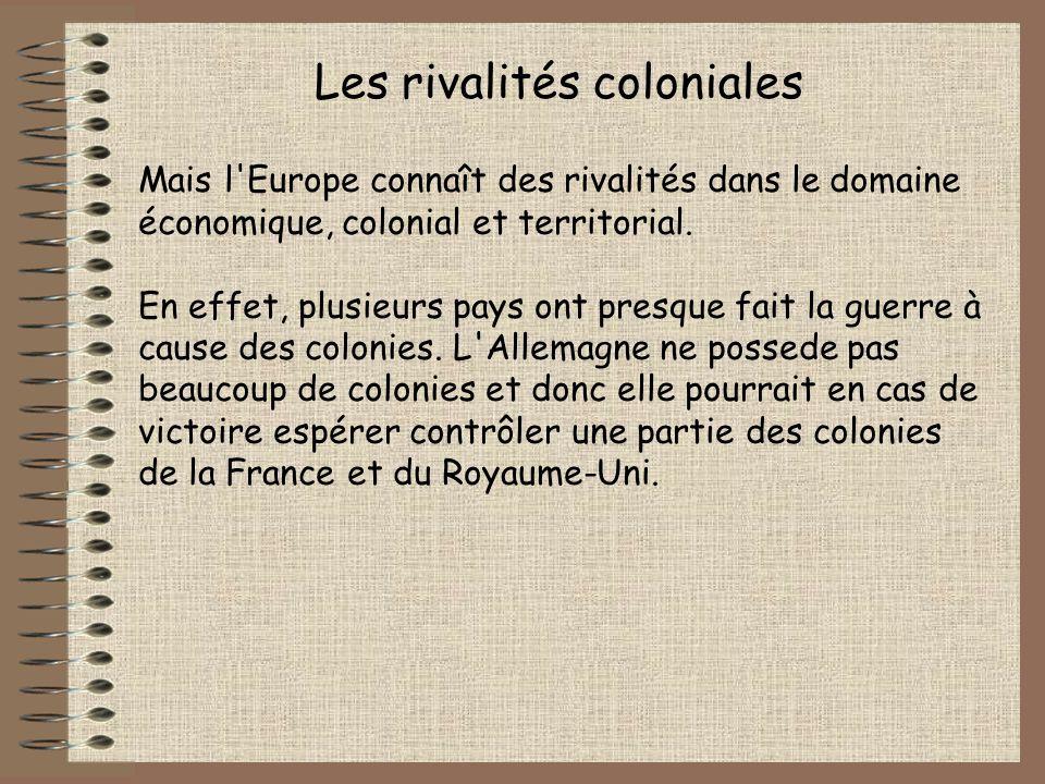 Les rivalités coloniales