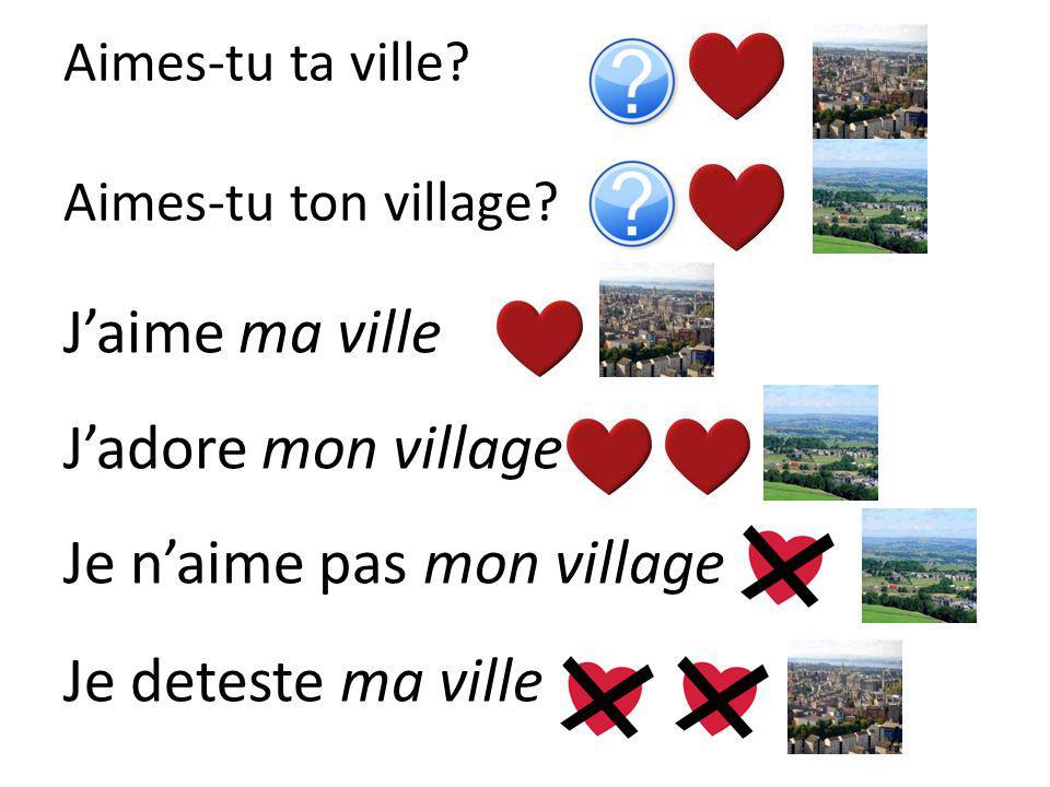 Aimes-tu ta ville Aimes-tu ton village