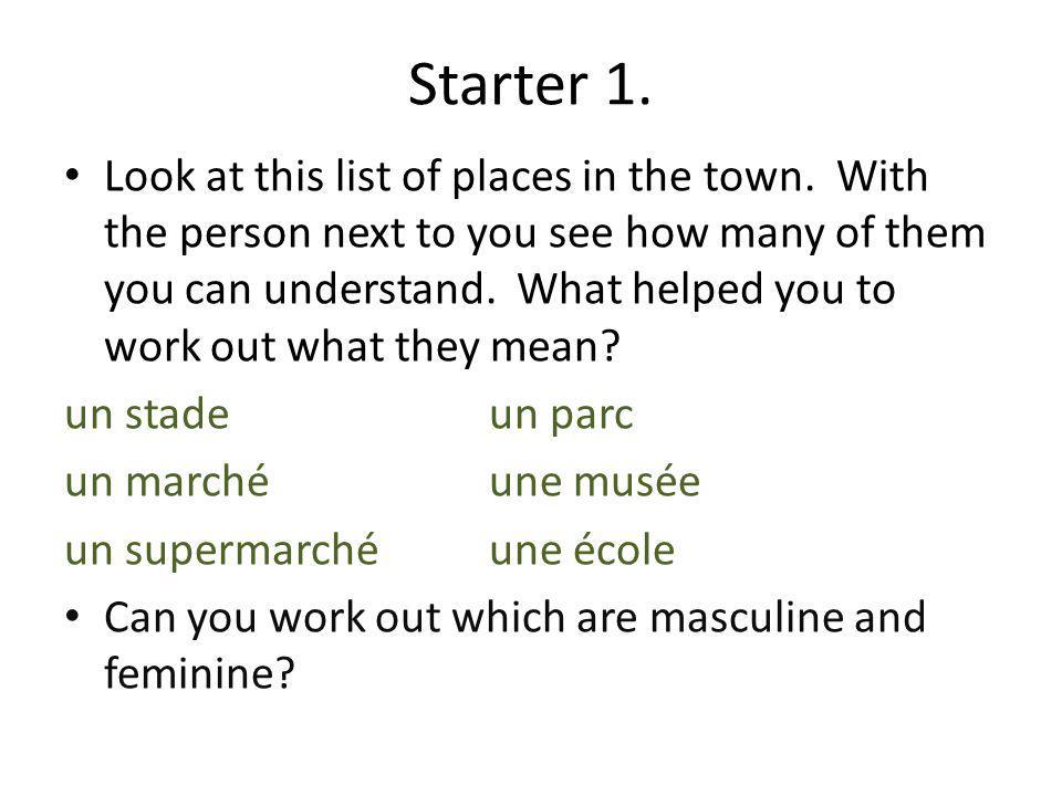 Starter 1.