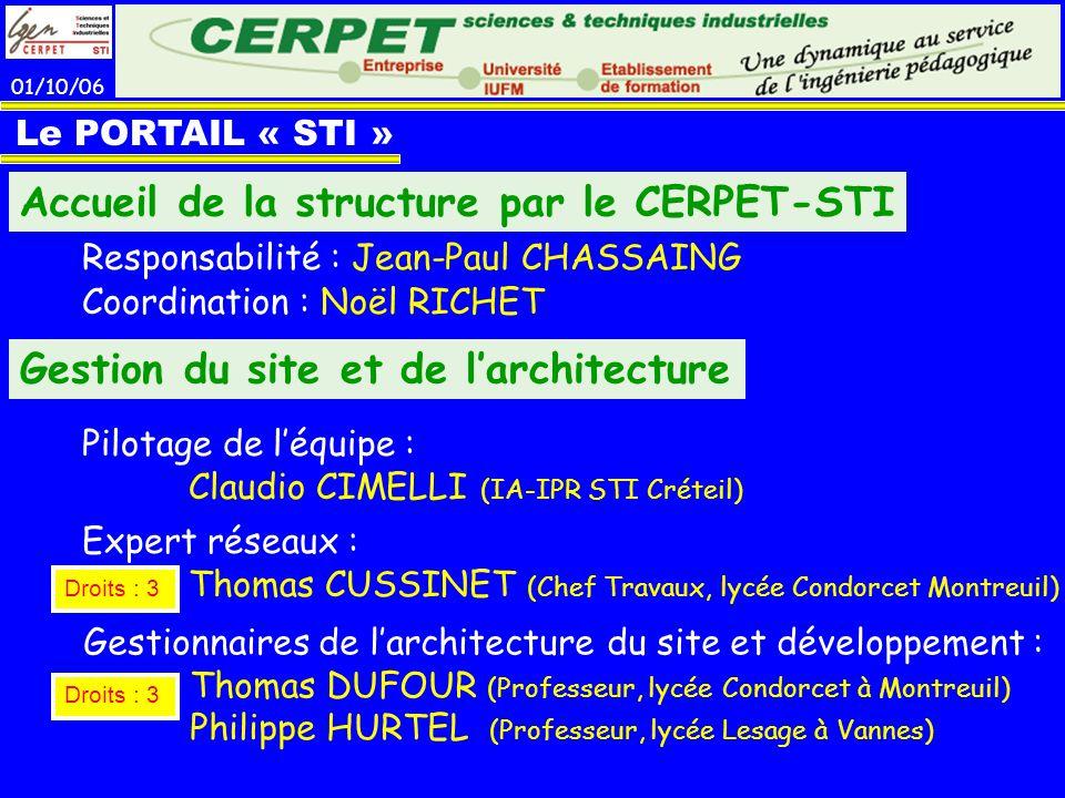 Accueil de la structure par le CERPET-STI