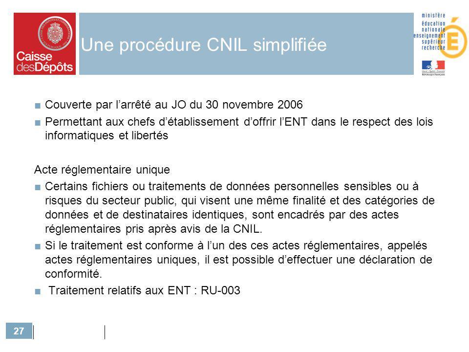 Une procédure CNIL simplifiée