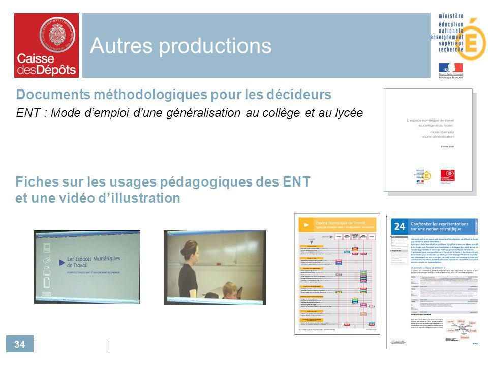 Autres productions Documents méthodologiques pour les décideurs