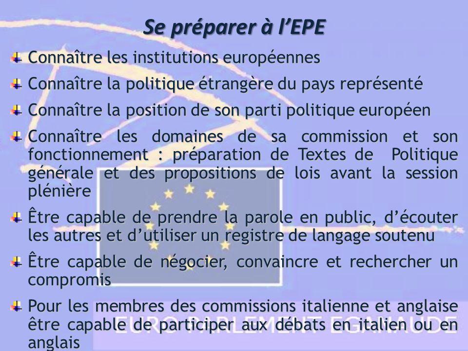 Se préparer à l'EPE Connaître les institutions européennes