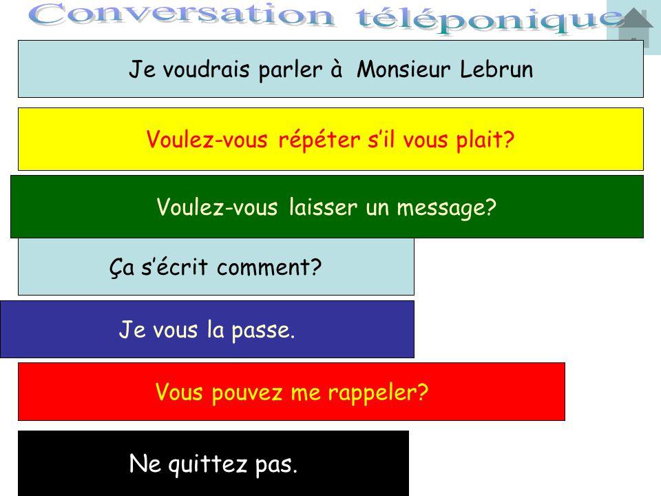 Conversation téléponique