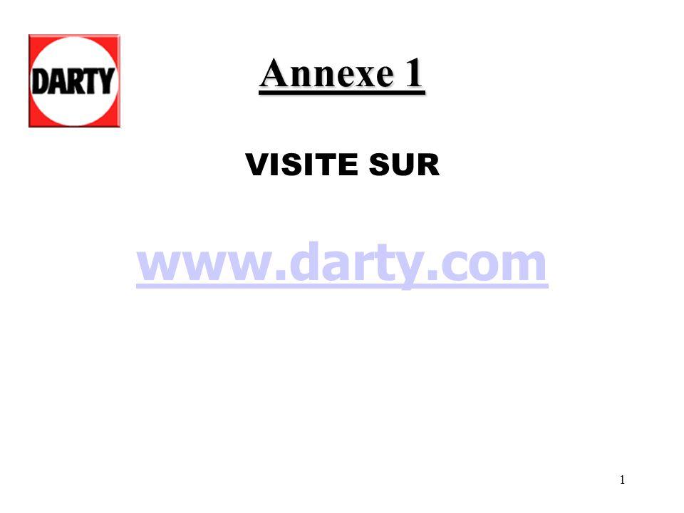 Annexe 1 VISITE SUR www.darty.com