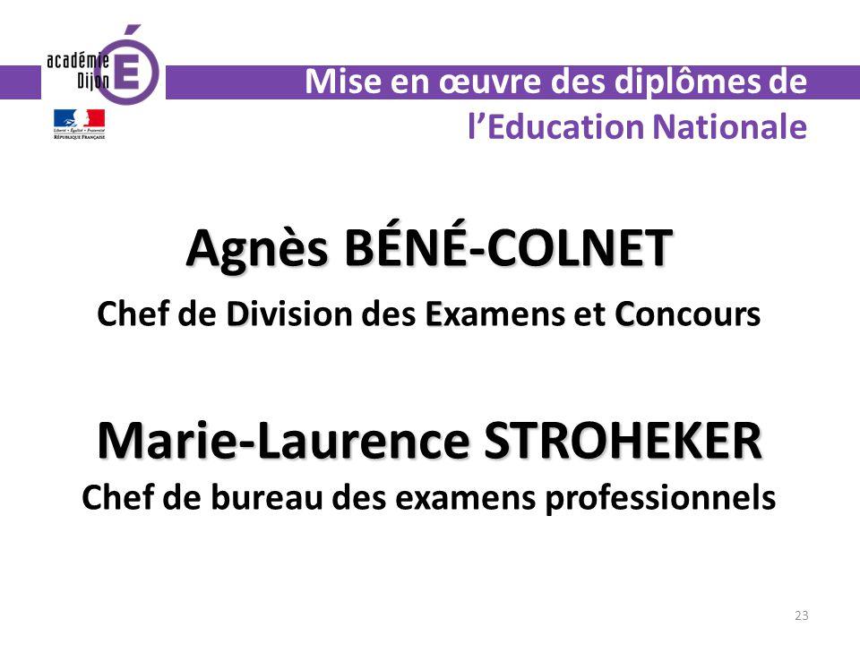 Mise en œuvre des diplômes de l'Education Nationale