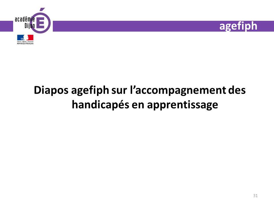 Diapos agefiph sur l'accompagnement des handicapés en apprentissage