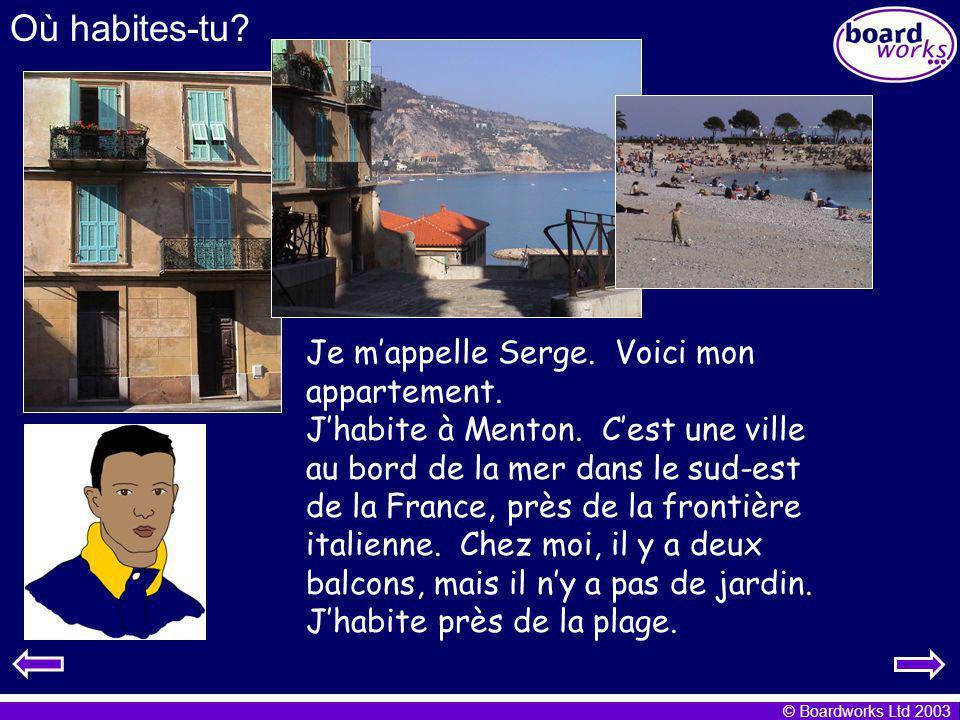Où habites-tu Je m'appelle Serge. Voici mon appartement.