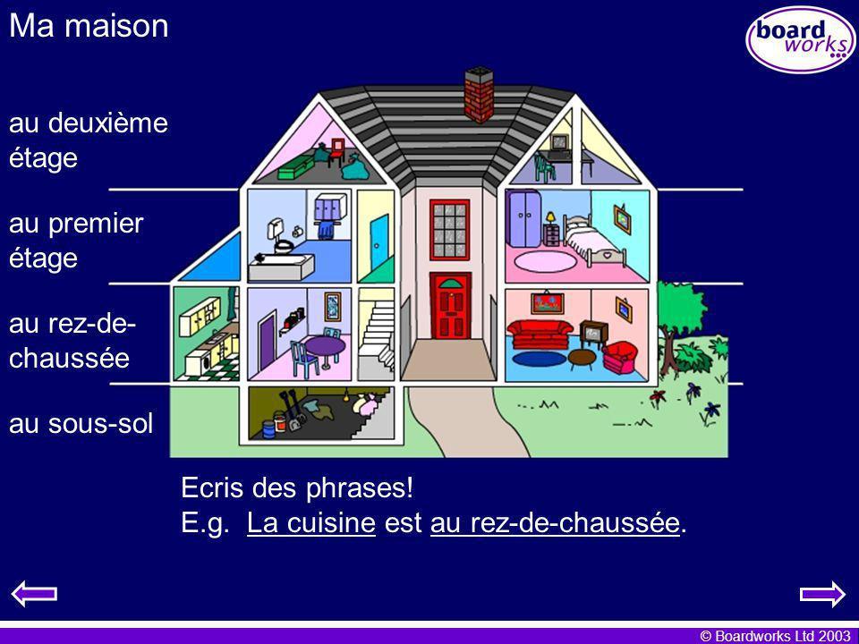 Ma maison au deuxième étage au premier étage au rez-de-chaussée