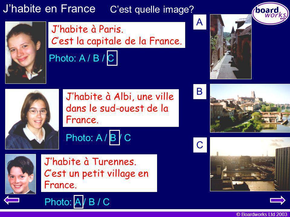 J'habite en France C'est quelle image A J'habite à Paris.
