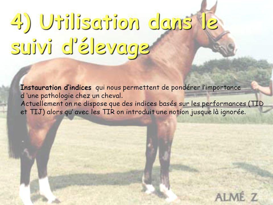 4) Utilisation dans le suivi d'élevage