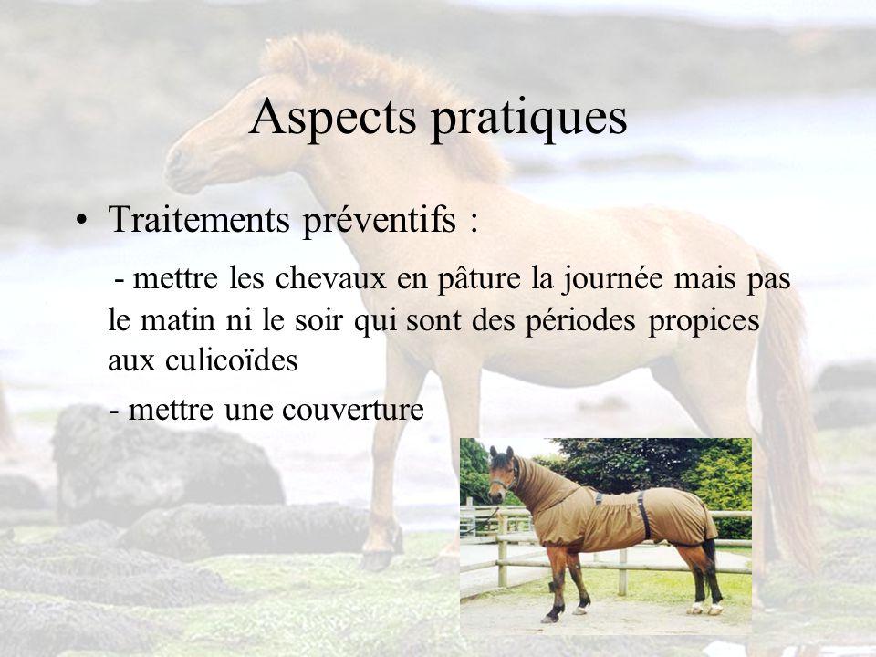 Aspects pratiques Traitements préventifs :