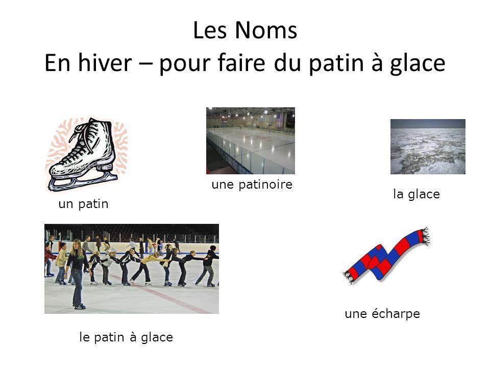 Les Noms En hiver – pour faire du patin à glace