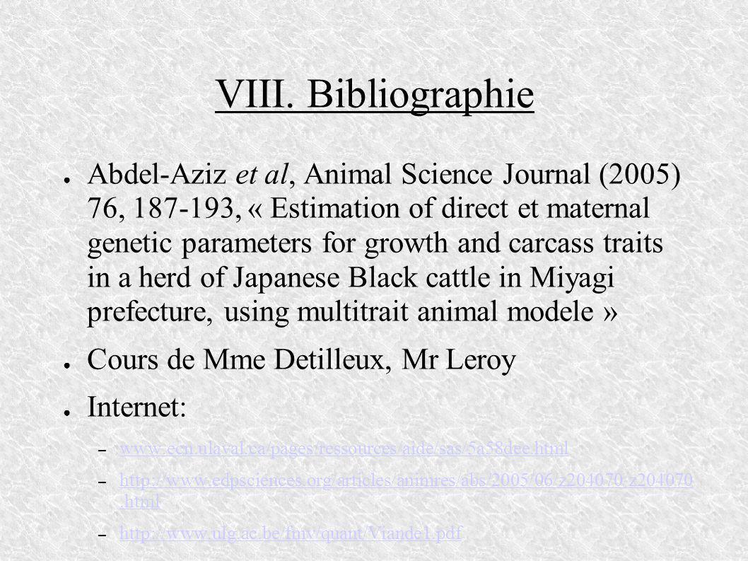 VIII. Bibliographie