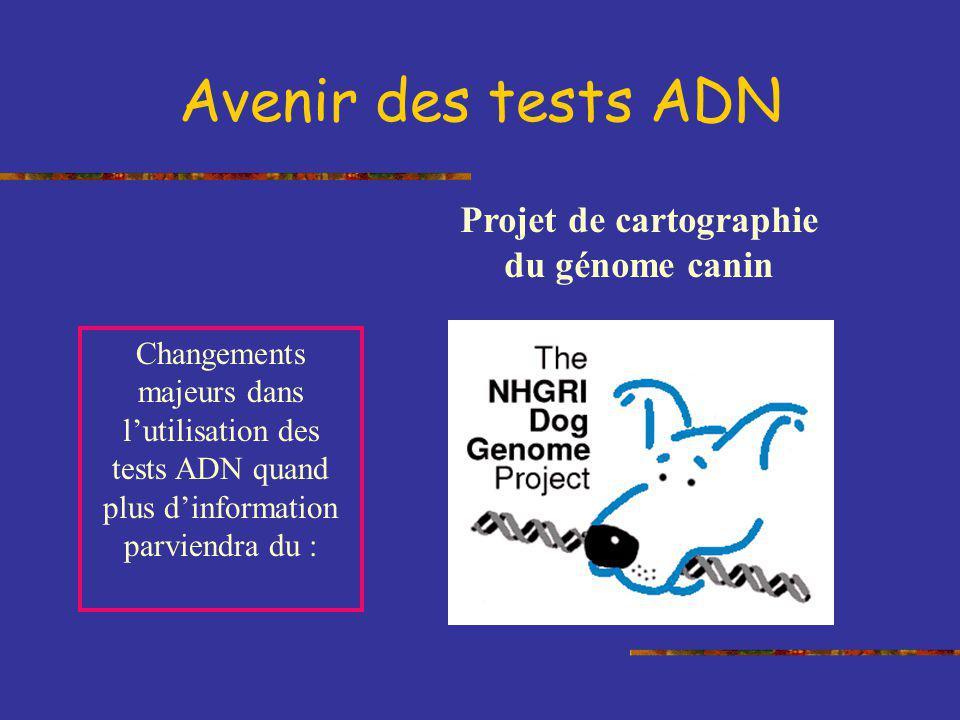Projet de cartographie du génome canin