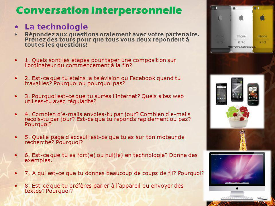 Conversation Interpersonnelle