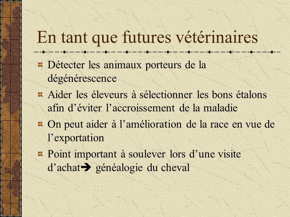 En tant que futures vétérinaires