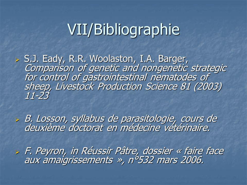 VII/Bibliographie