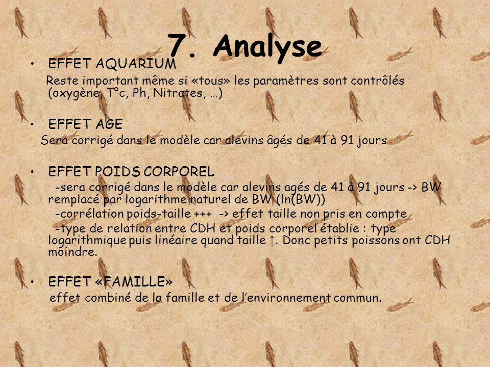 7. Analyse EFFET AQUARIUM