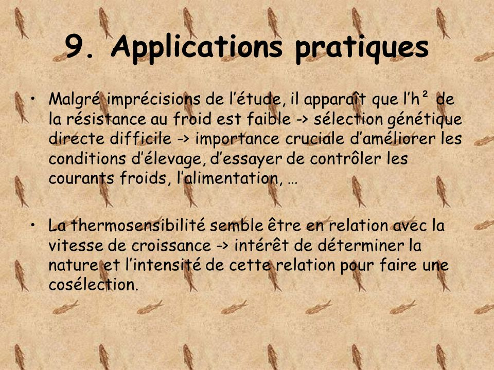 9. Applications pratiques