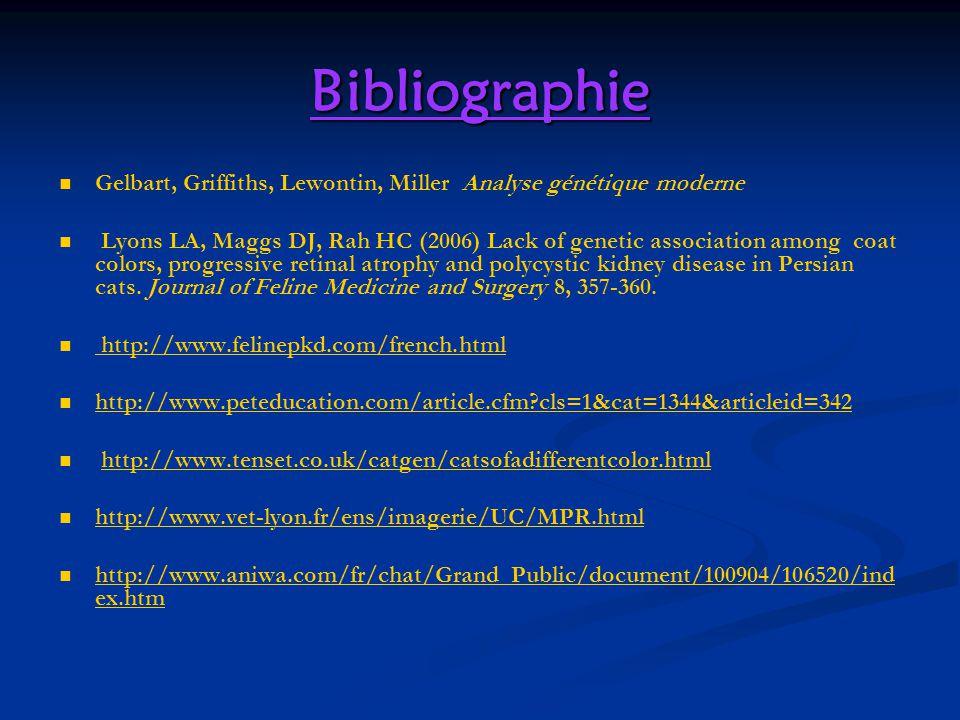 Bibliographie Gelbart, Griffiths, Lewontin, Miller Analyse génétique moderne.