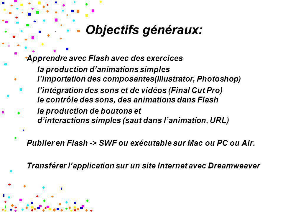 Objectifs généraux: Apprendre avec Flash avec des exercices