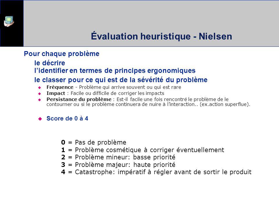 Évaluation heuristique - Nielsen