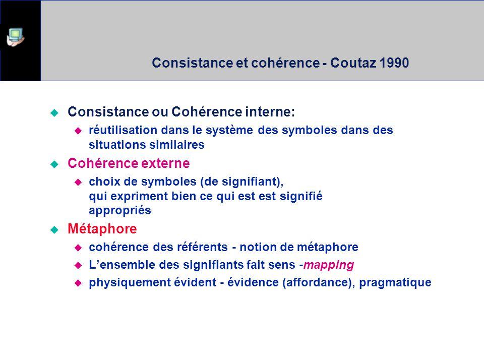 Consistance et cohérence - Coutaz 1990